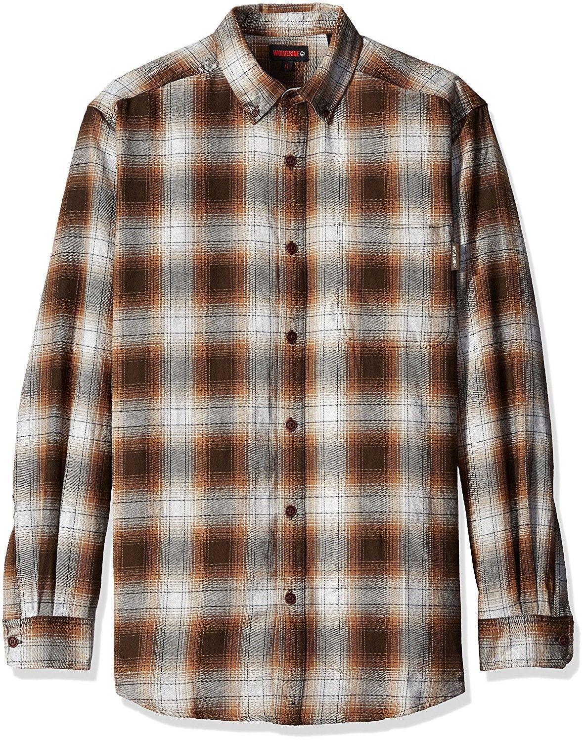 Menus big and tall hammond long sleeve two sided brushed flannel