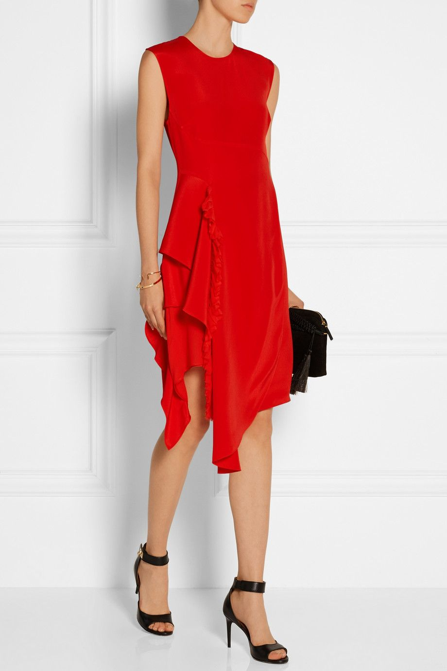 8860a5864b0 3.1 Phillip Lim - Ruffled silk-crepe dress
