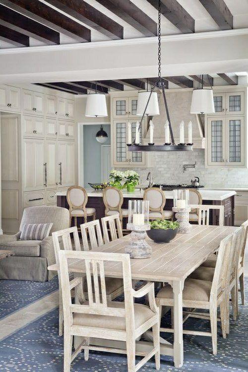 Küche Im Landhausstil Gestalten Kronleuchter Kerzen