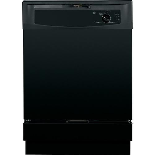 Ge 24 Built In Dishwasher Black Gsd2100vbb Best Buy Built In Dishwasher Black Dishwasher Ge Appliances