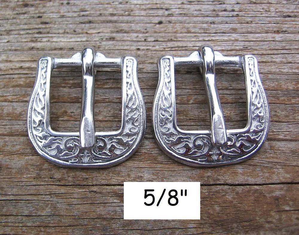 """Rosettes Conchos Buckles Loops 5//8/"""" Horse Shoe 8 PC Jeremiah Watt Bridle Trim"""