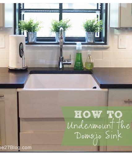 How To Undermount Ikeau0027s Domsjo Sink
