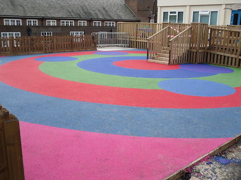 Playground Safety Surfacing In Up End 1 Playground