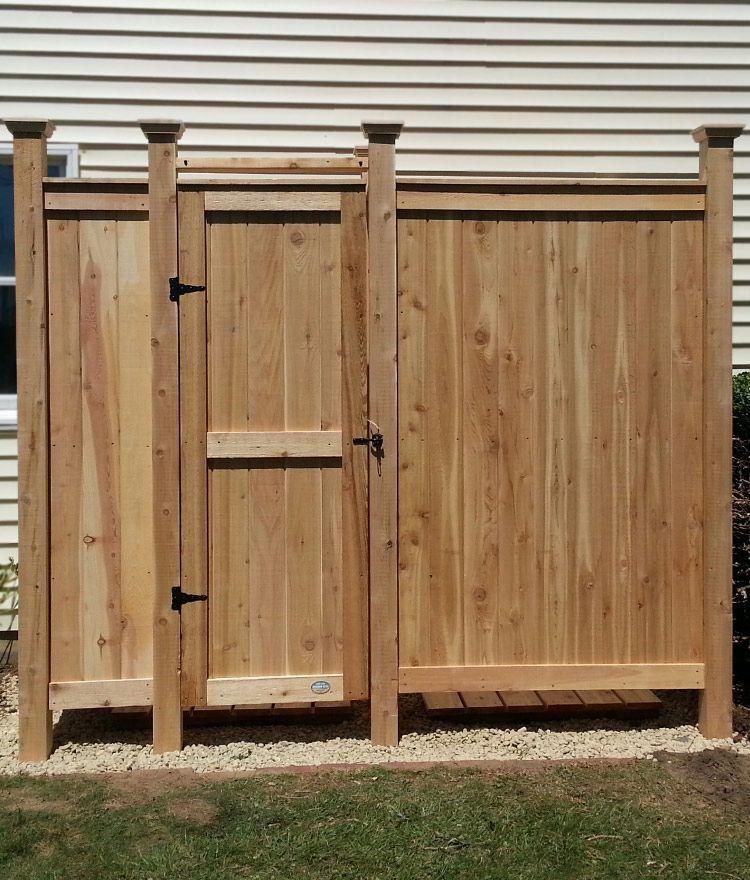 Cedar Outdoor Shower Deluxe House Mount Outdoor Shower Kits