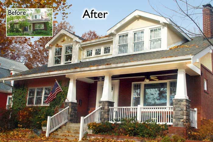 Addition oakland missouri craftsman style bungalow custom for Bungalow show homes