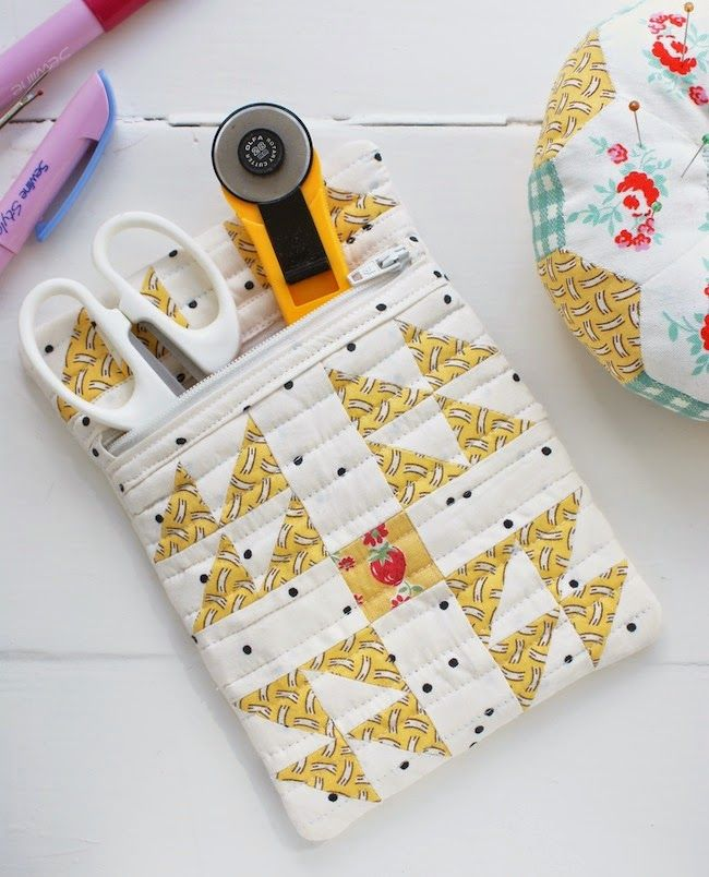 Crafting ideas from Sizzix UK: \'Flying Geese\' Zippy Sewing Pouch ...