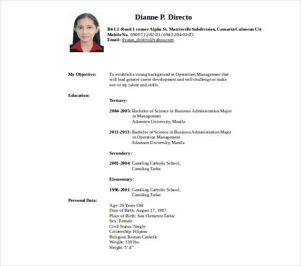 10+ Secretary Resume Templates Free Printable Word  PDF Sample