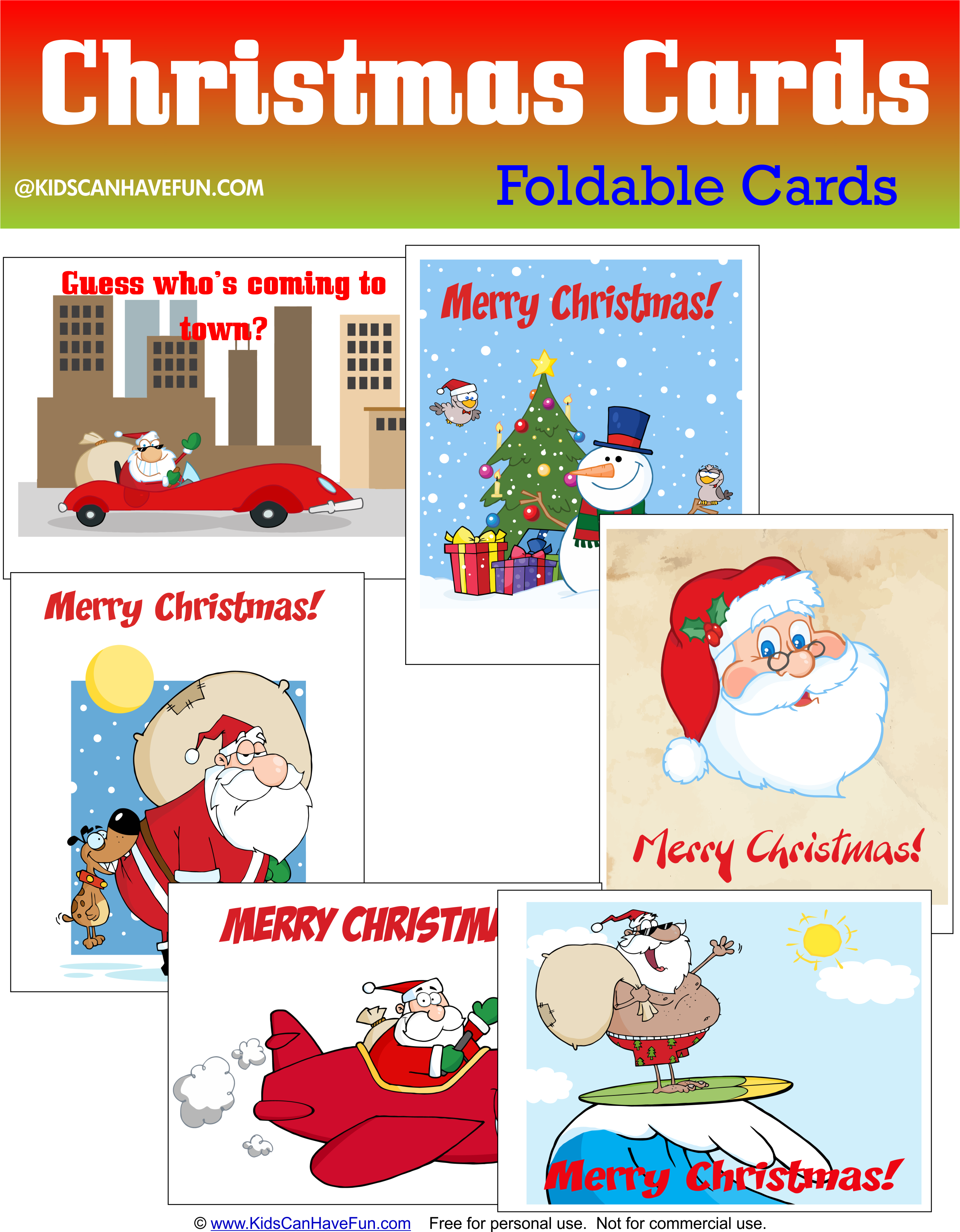 Free Foldable Christmas Cards Dscanhavefun