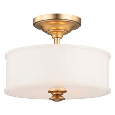Traditional Urban Opal Glass Ceiling Light Semi Flush Ceiling Lights Gold Ceiling Light Semi Flush Lighting