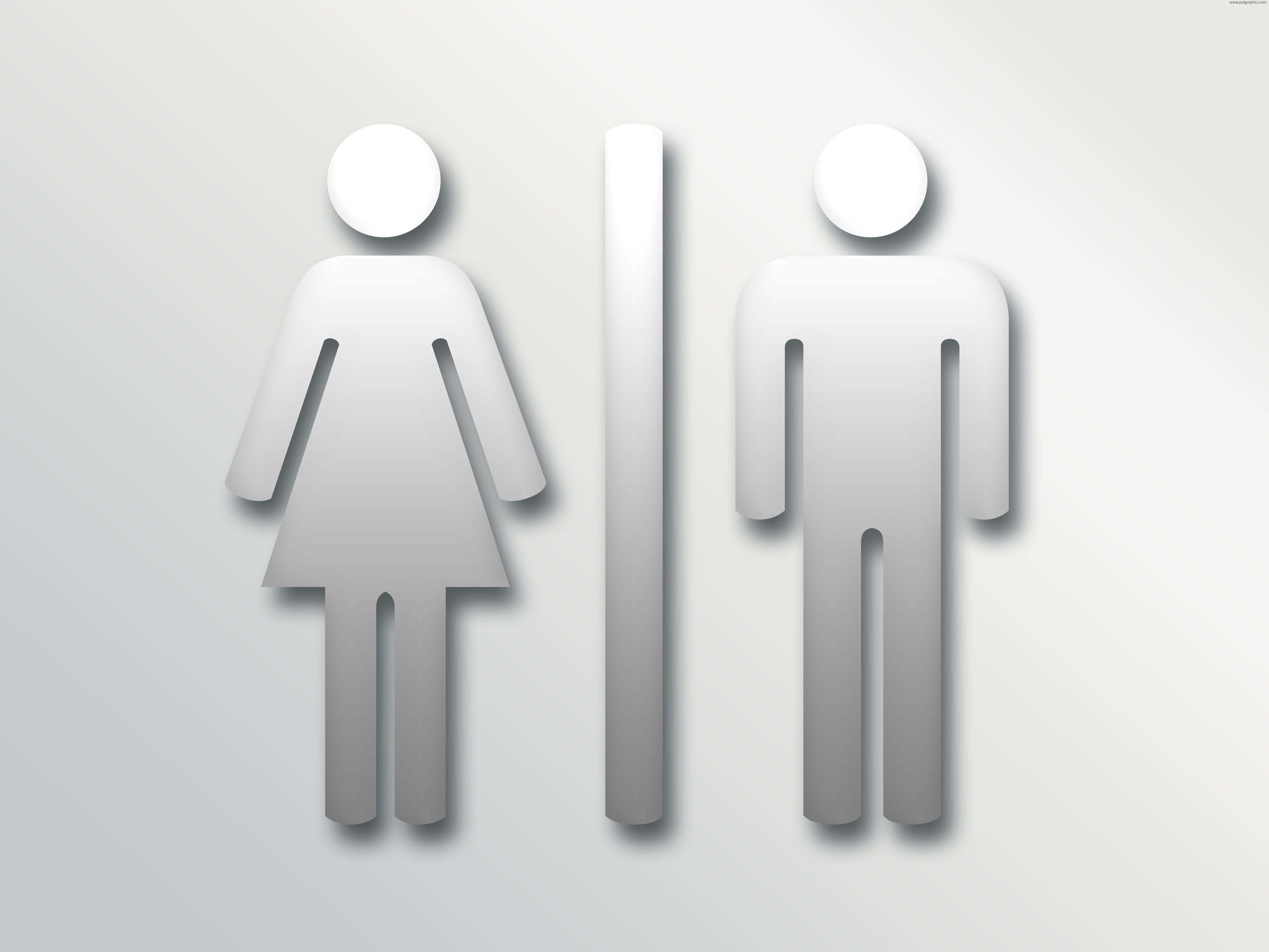 Male bathroom sign - Commercial Bathroom Design Gray Red Restroom Toilet Sign
