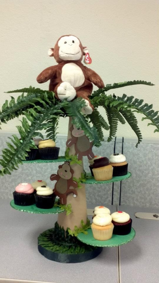 Jungle Cupcake Stand Arts Crafts Amp Craft Room Ideas