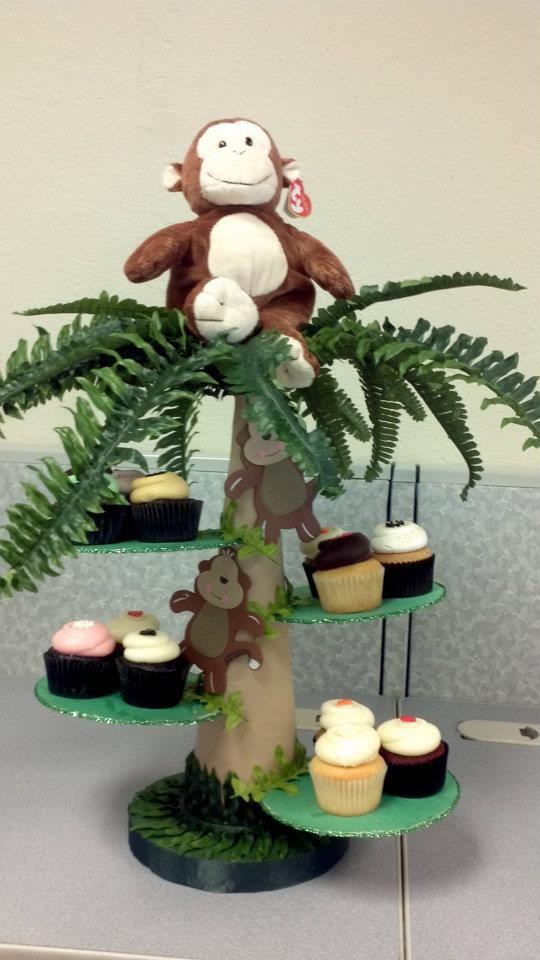 Jungle Cupcake Stand Arts Crafts Amp Craft Room Ideas
