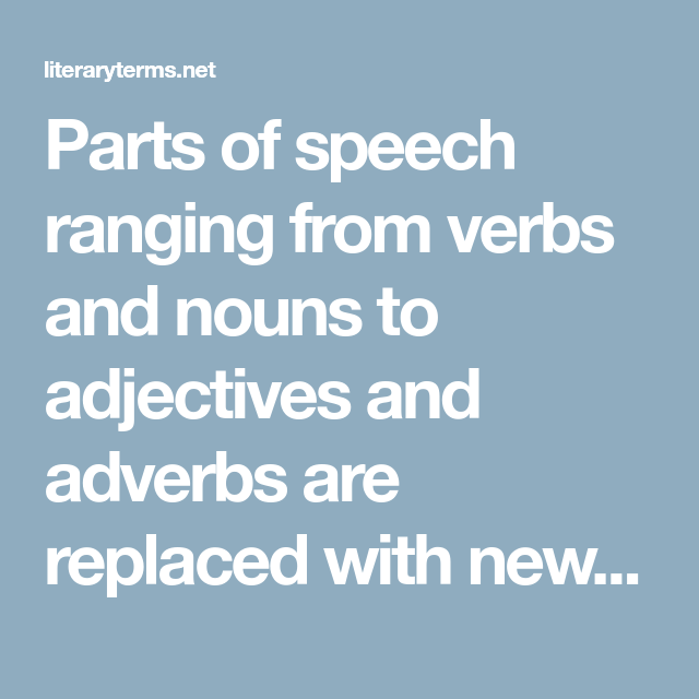 Part Of Speech Ranging From Verb And Noun To Adjective Adverb Are Replaced With New In Thi Paraphrase Adjectives Sentence Define