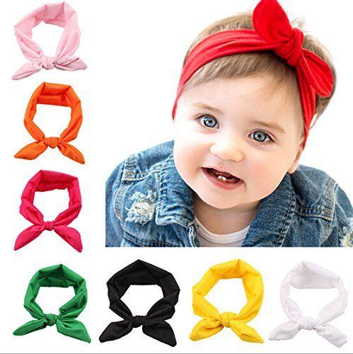 5PCS Cute Girls Baby Toddler Turban Headband Hair Band Bow Accessories Headwear