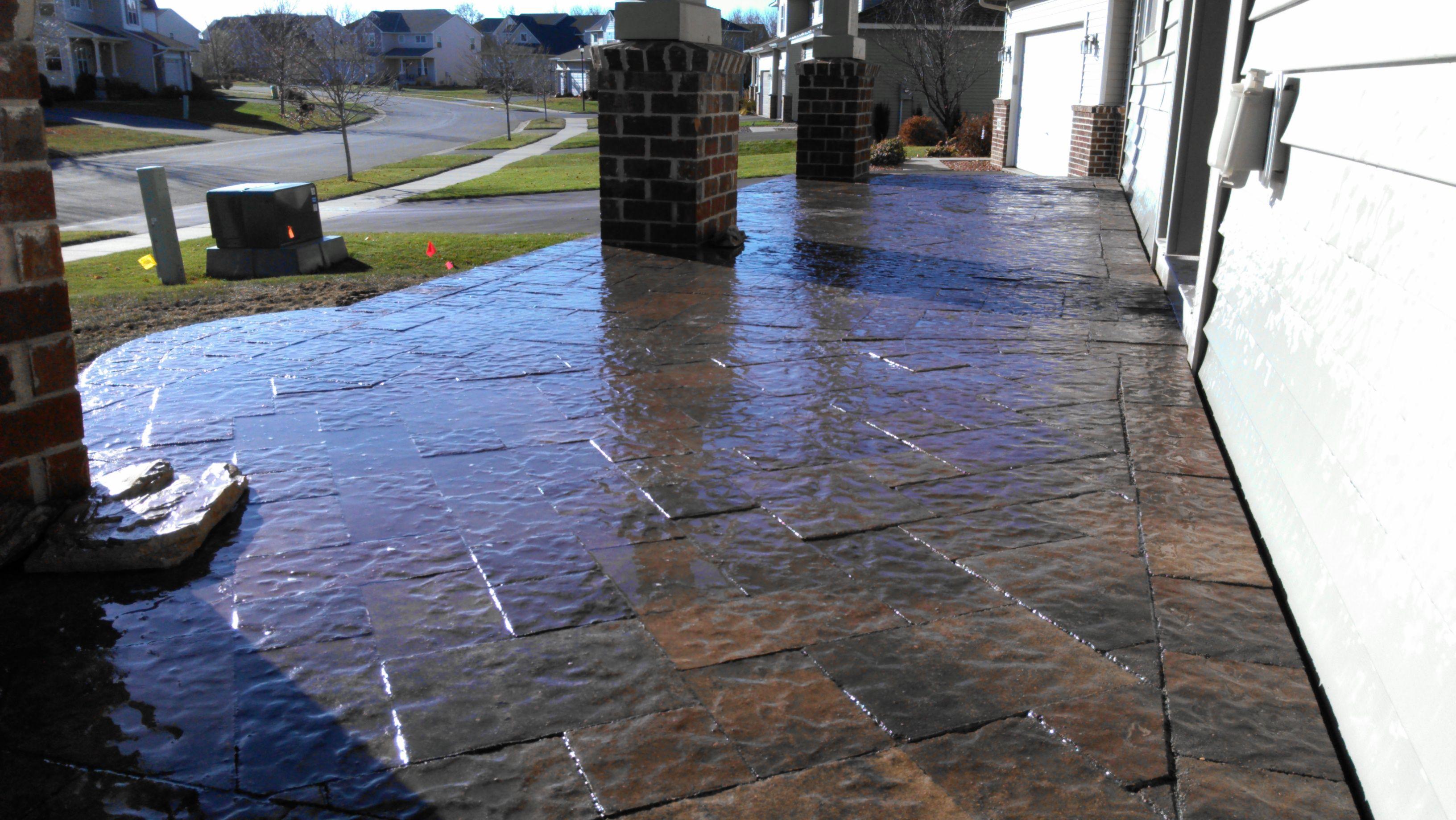 Porch Stoop On Pinterest Decorative Concrete Cement And