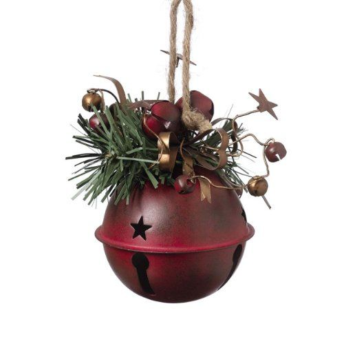 amazoncom cowboy western red metal bell ornament christmas ornaments