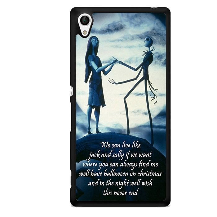 Jack Skeleton And Sally Love Quotes TATUM-5745 Sony Phonecase Cover For Xperia Z1, Xperia Z2, Xperia Z3, Xperia Z4, Xperia Z5