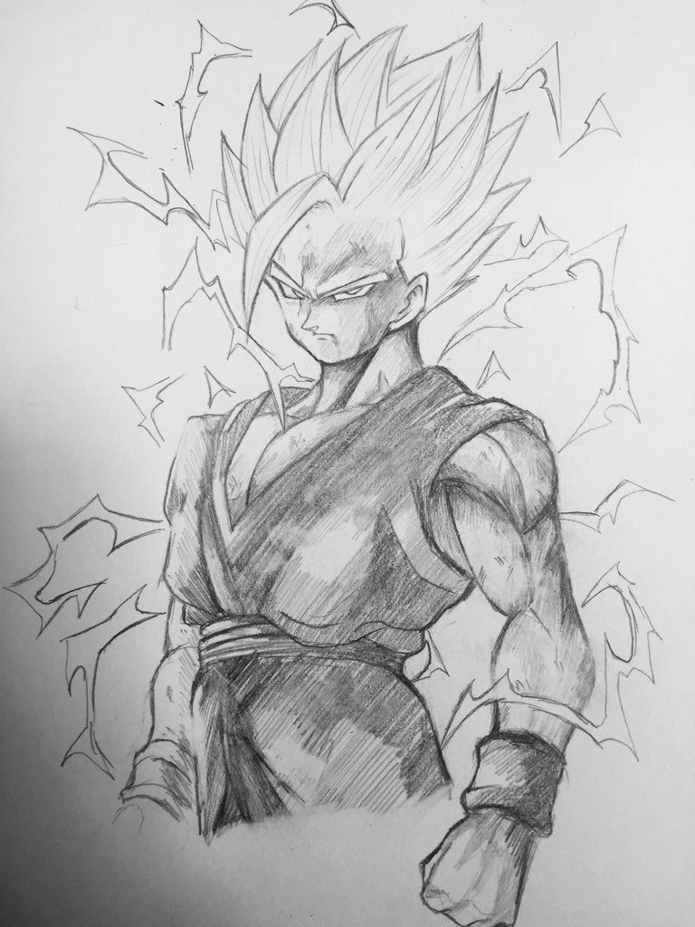 Embedded sketches character design dragon ball z