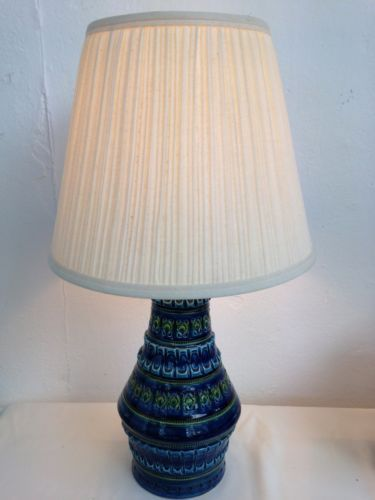 Vintage retro 1960s bitossi aldo londi italian table lamp blue vintage retro 1960s bitossi aldo londi italian table lamp blue green rewired fwo ebay greentooth Choice Image