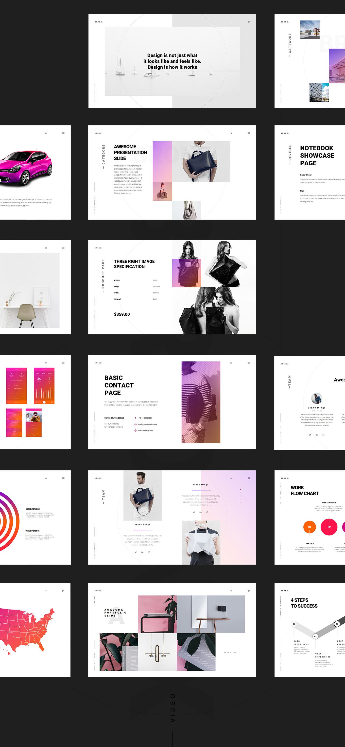 Presentation of the new bronx was created multipurpose template that based in russia web uiux and graphic designer dima isakov has created a striking powerpoint template that will make your presentation an toneelgroepblik Gallery