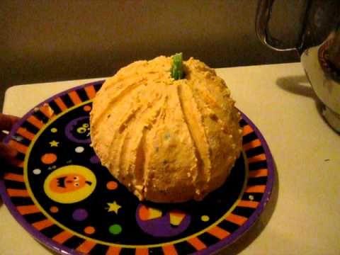 Pumpkin Cheeseball~ Halloween Potluck Recipes to try Pinterest - halloween entree ideas