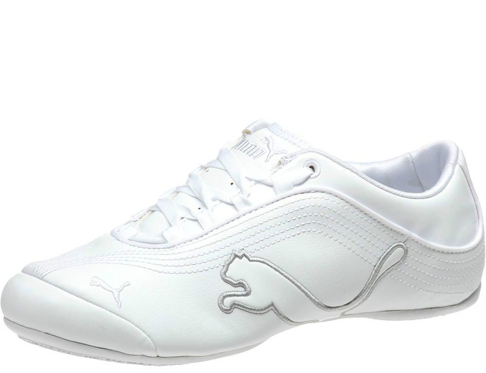 NIB PUMA Women Soleil Cat P Patent leather sneaker running shoes White  Silver  9  PUMA  FashionSneakers ed17613d7