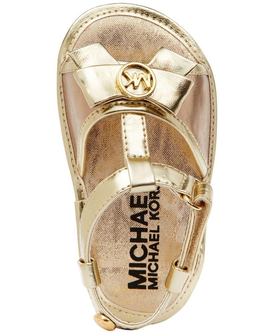 Michael Kors Carter Slippers Glitter Gold (6):