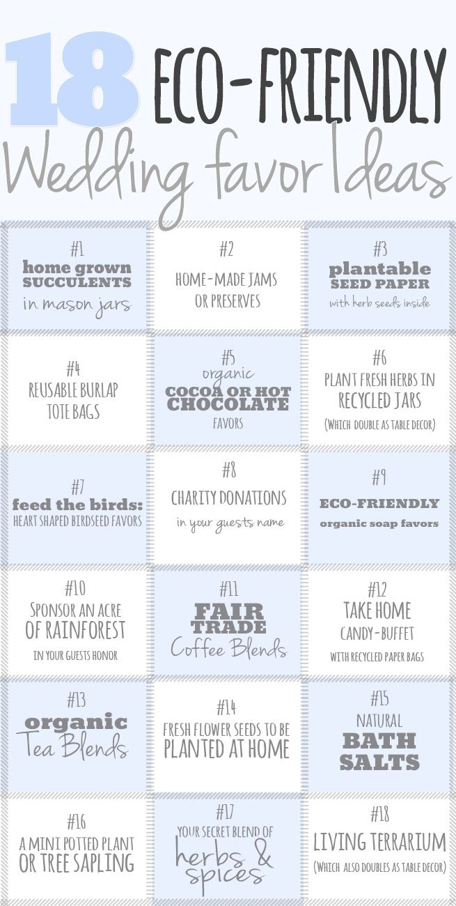 18 Cute and Thoughtful Eco-Friendly Wedding Favor Ideas | Favors ...