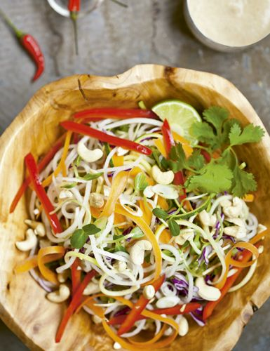 Receita de salada pad thai sem glutén Receitas Light