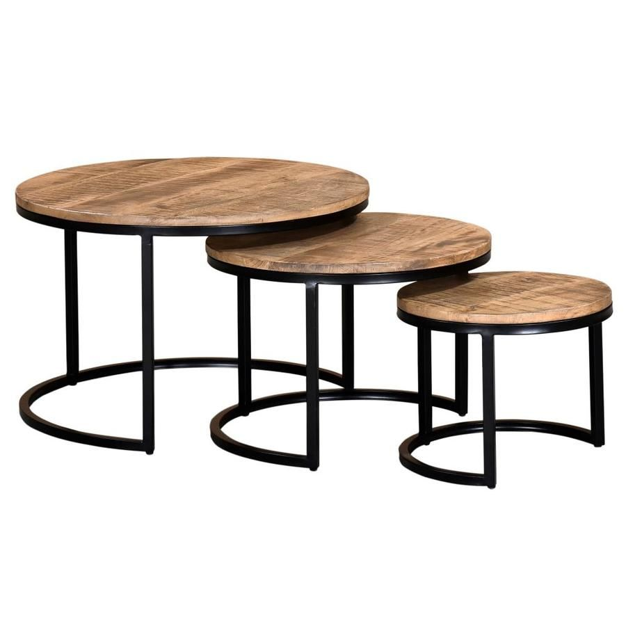 Worldwide Homefurnishings Natural Washed Grey Wood Coffee Table Lowes Com In 2021 Nesting Coffee Tables Round Nesting Coffee Tables Round Coffee Table Sets [ 900 x 900 Pixel ]
