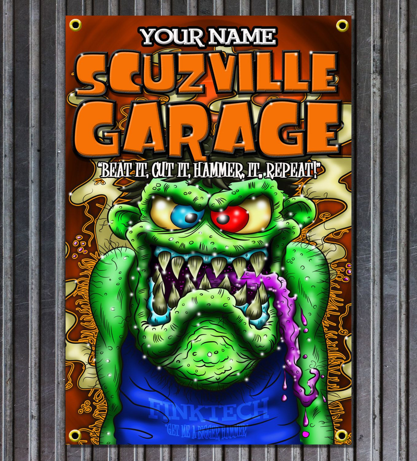 Fink Garage: Weirdo Scuzville Garage Rat Fink Style Vinyl Garage Or