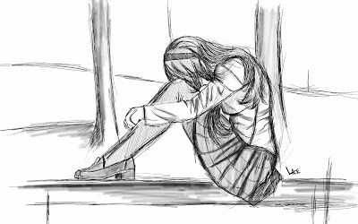 Esquisse Fille Triste Triste Drawings Illustration Et Art