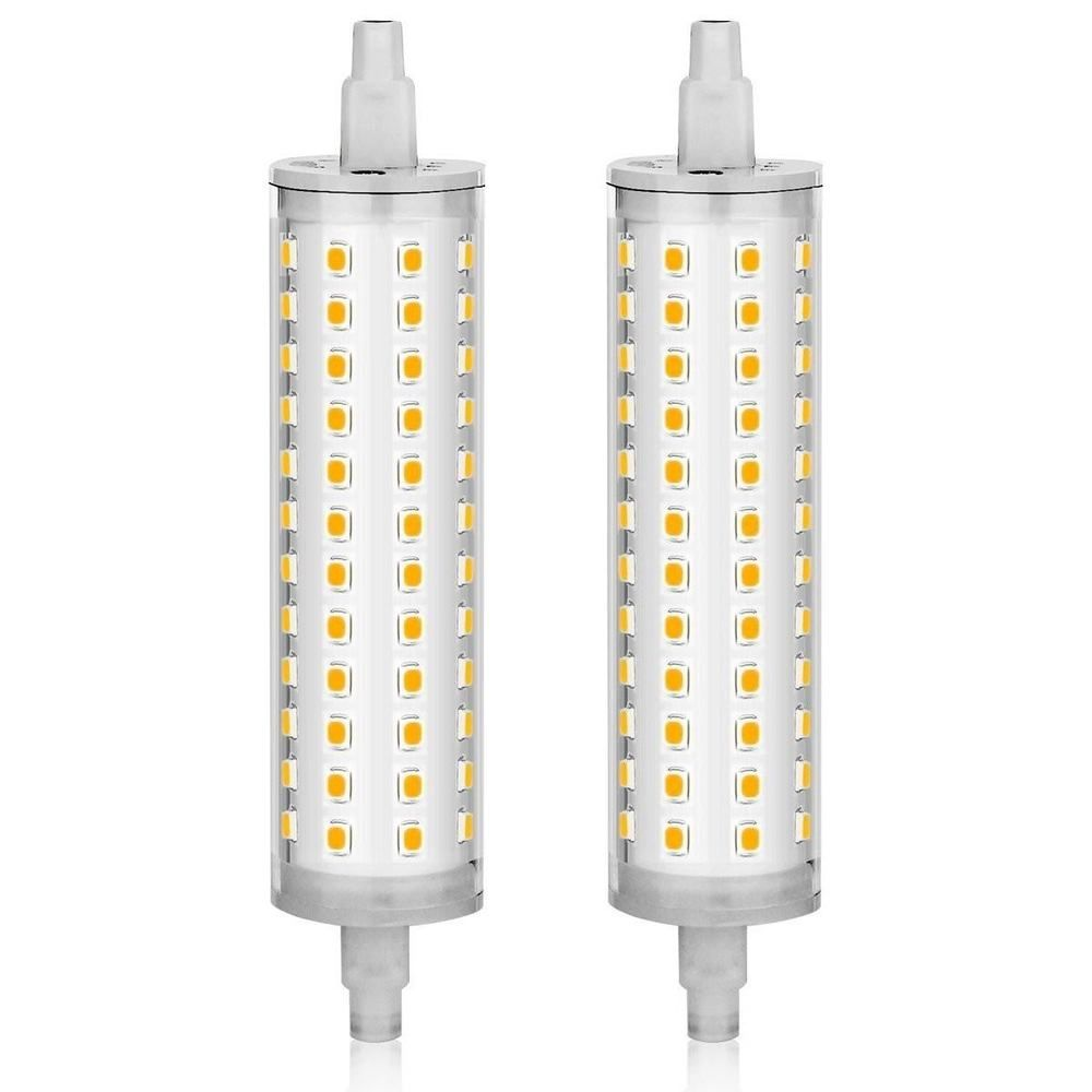 Halogen Bulb R7s Led 118mm J Type T3 100w 3000k W White 110v 240v 2 Pcs Kindeep Lighting And Ceiling Fans Light Bulbs Halogen Bulbs