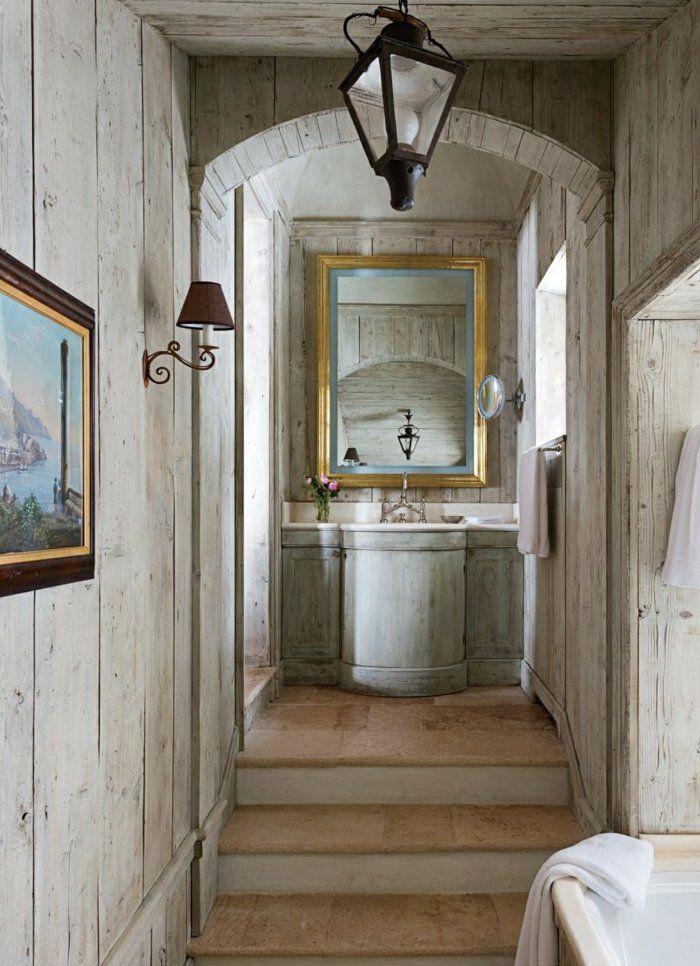 Badezimmer Ideen holz weiss laternen gang Ideen rund ums Haus - badezimmer ideen wei