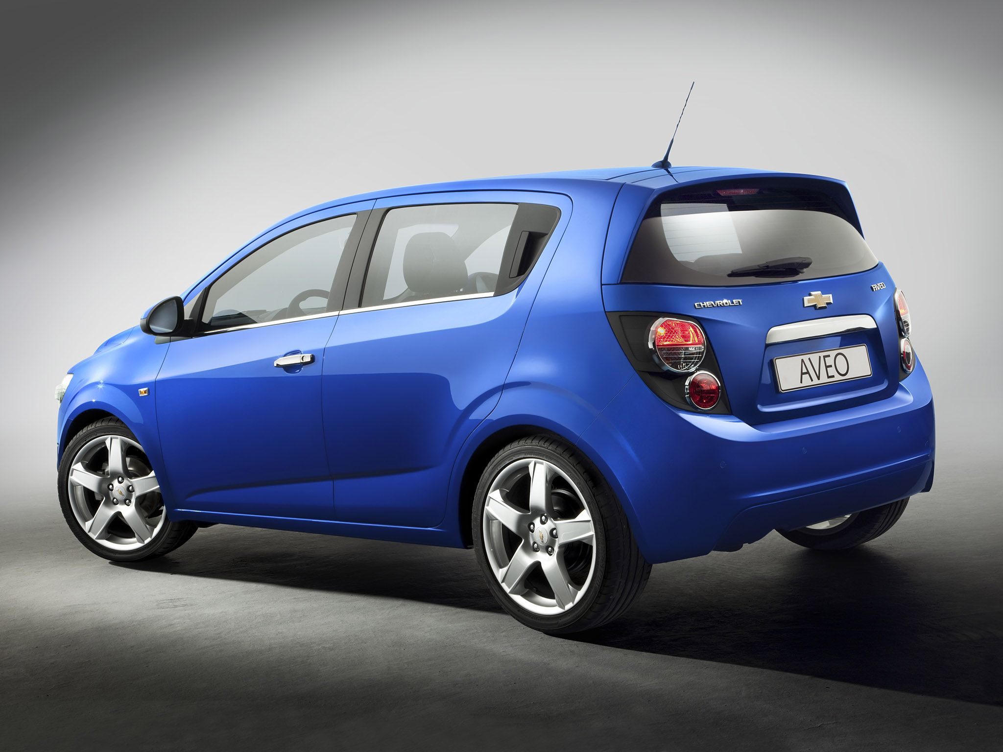 2012 Chevrolet Aveo Hatchback Blue Car Side Rear Chevrolet