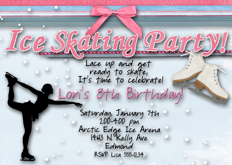 Ice Skating Birthday Party Invitation. | Let\'s Party!!! | Pinterest ...