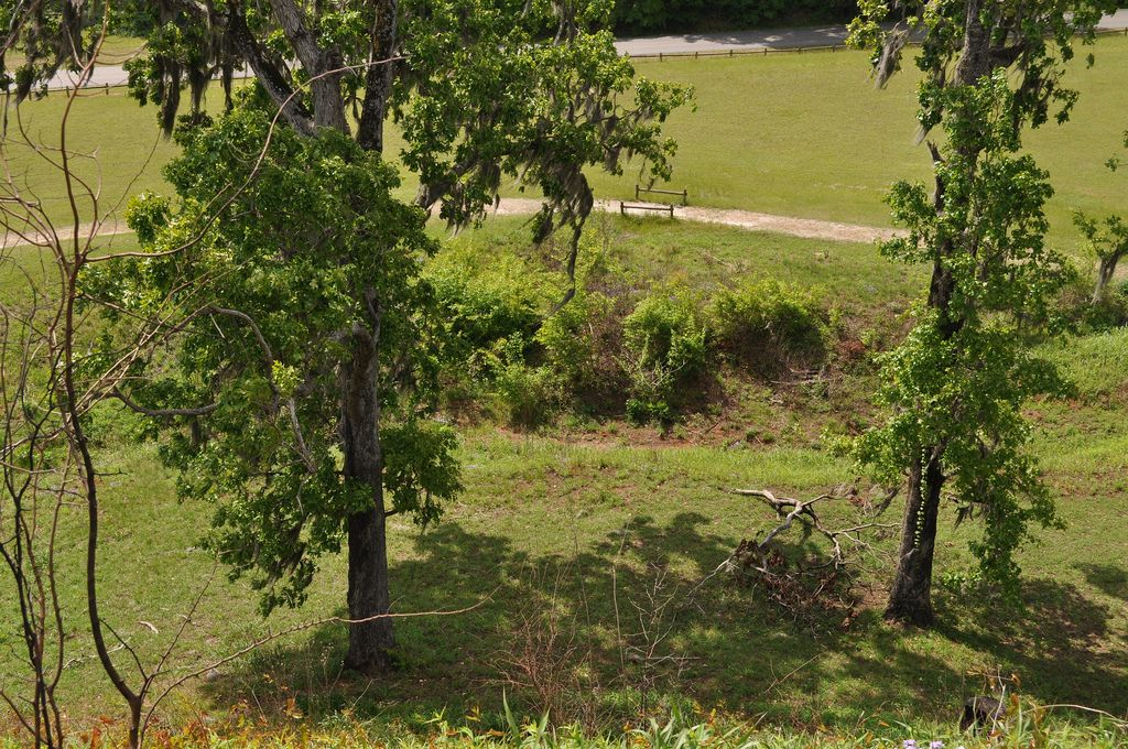 Temple Mound. View from top. Kolomoki Mounds State Park, Blakely, Early County, GA.