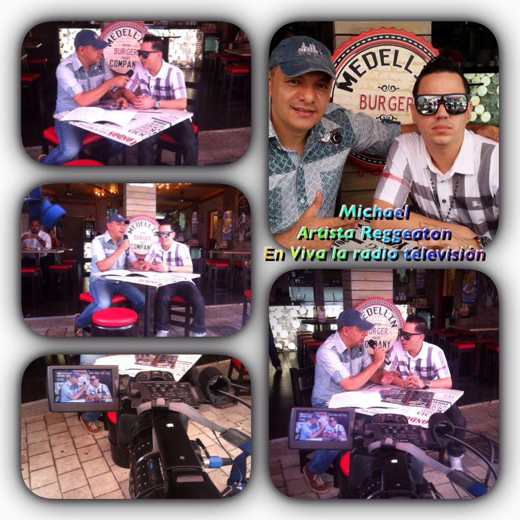 Michael lanza su éxito  Besos en vuelo @michaelmusik  Medellín Burger company  www.vivalaradiotelevisuon.com
