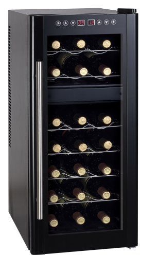 21 Bottle Dual Zone Thermoelectric Wine Cooler By Sunpentown By Sunpentown 281 25 Equipped Wi Wine Refrigerator Thermoelectric Wine Cooler Best Wine Coolers