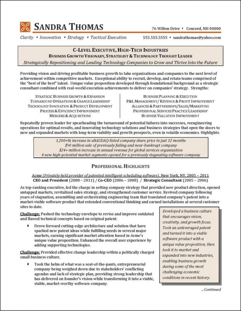 C Level Resume Examples 2021 In 2021 Resume Examples Good Resume Examples Executive Resume