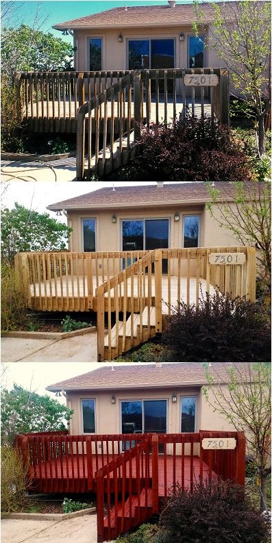 A Redwood Deck In Sedalia Co That Was Cleaned Stripped