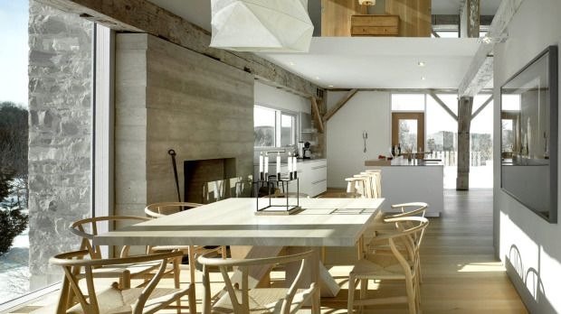 Mary Jo Hind and Fred Vermeulen, architects - rustic structure and modern interior