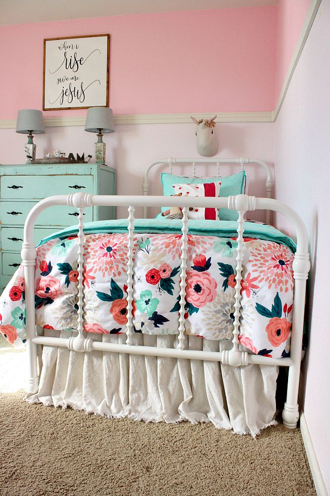 Shared Girls' Bedroom Makeover Big girl bedrooms, Girl
