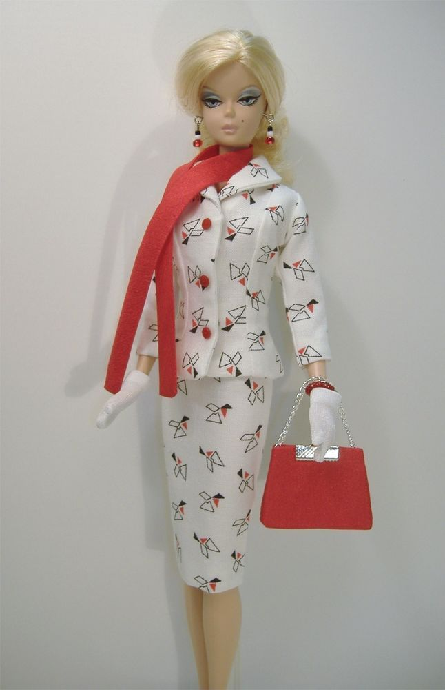 New Handmade Suit For Silkstone Fashion Model Barbie Non Articulated Fashion Barbie Clothes Fashion Models