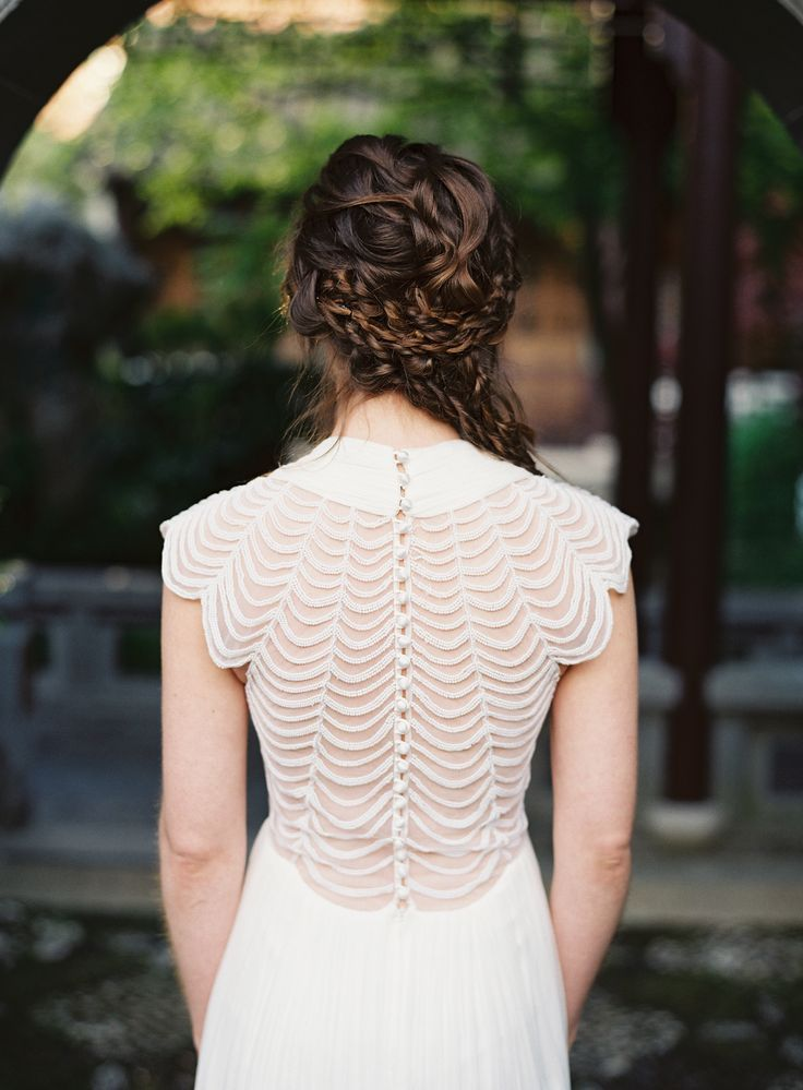 back of the bride
