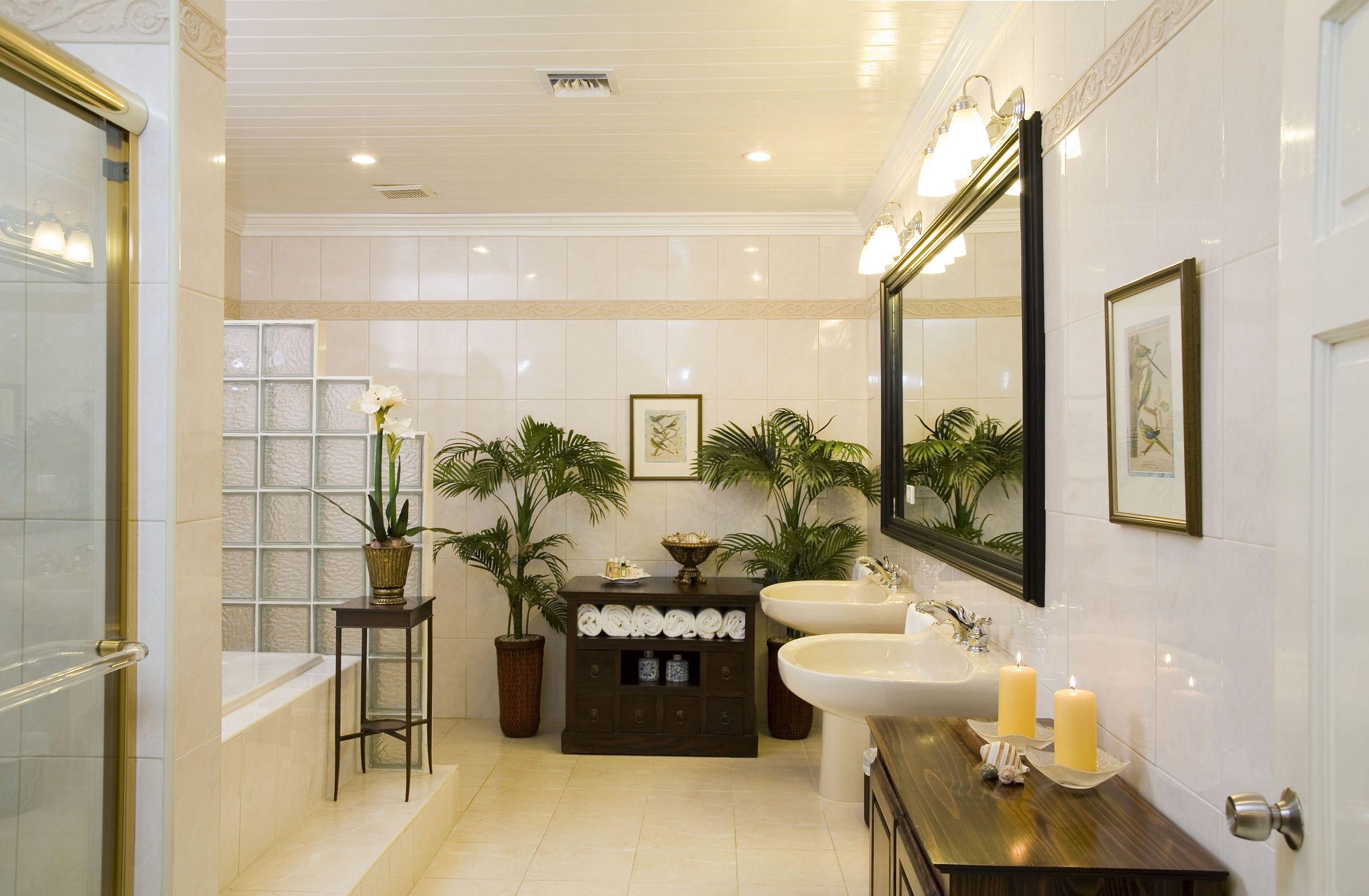 Decadent Bathrooms In The Suites With Bulgari Bath Amenities British Colonial Bathroom British Interior Design Tropical House British colonial bathroom decor
