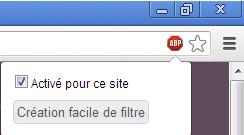 Désactiver AdBlock sur Google Chrome