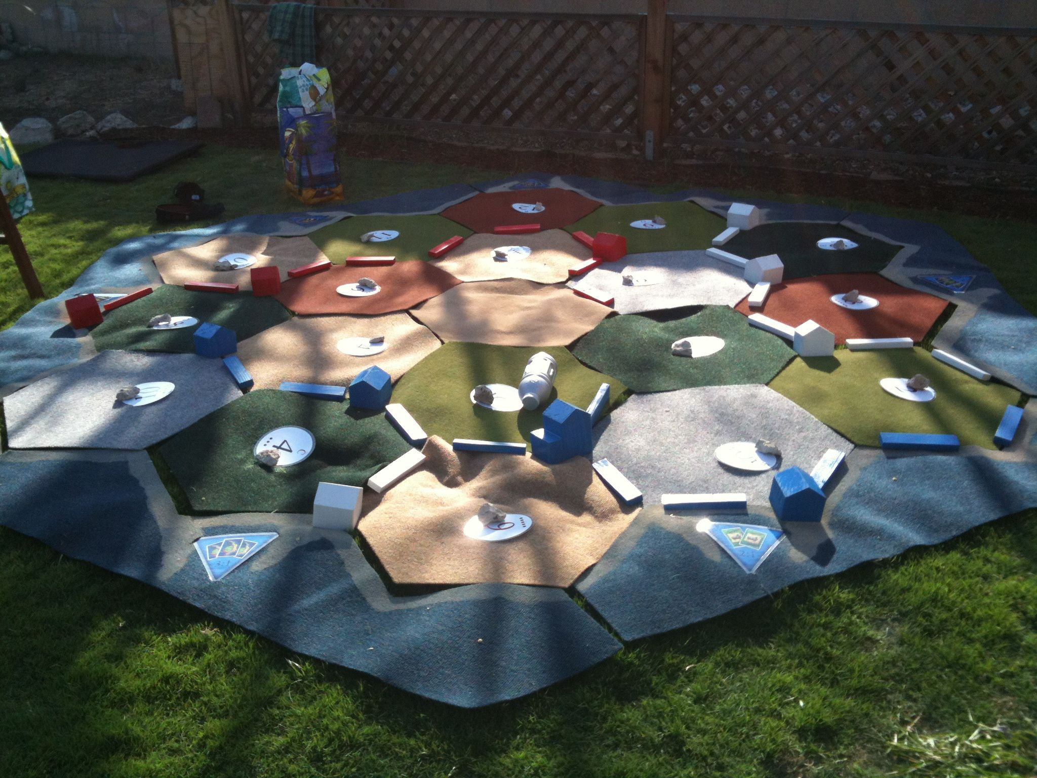 After Pinning Life Size Settlers Of Catan We Had To Make