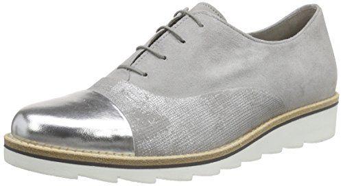 Gabor Shoes, Damen Derby Schnürhalbschuhe, Grau (19 Stone/Grau/Silber), 42 EU
