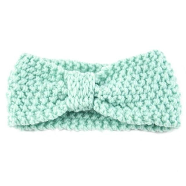 Newborn Baby Knit Crochet Headbands Baby hair Accessories Girl Winter Crochet Head Wrap Warmer Knitted Bow Hairband Hair Band #babyhairaccessories